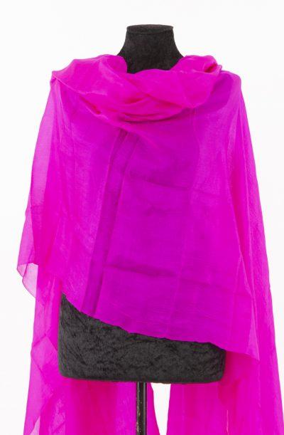Silk veil - Hot Pink