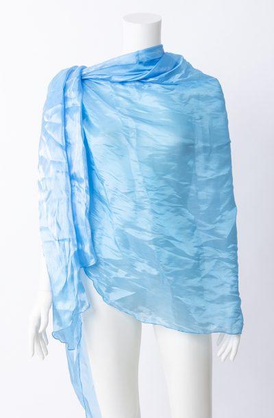Organza Semi-Circular Veil - Blue