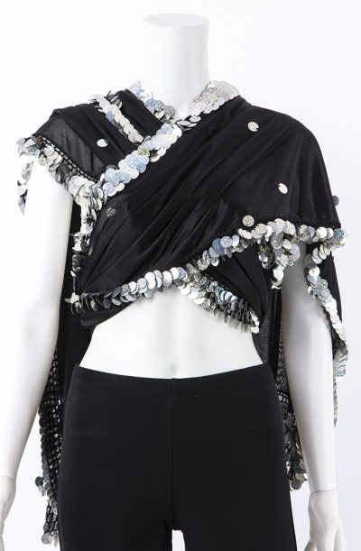 Melaya - Black & Holographic Silver