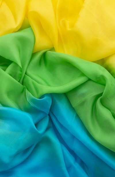 Silk Veil 3 Tone - Yellow, Green & Turquoise
