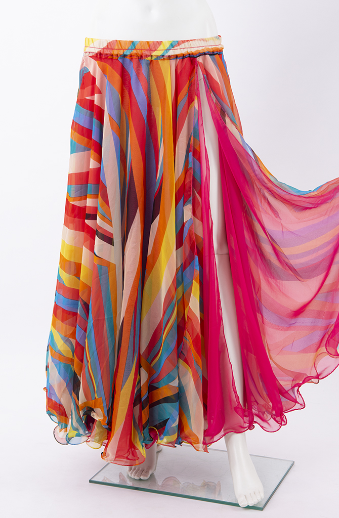 Double Chiffon Skirt - Multi Jazzy Pink