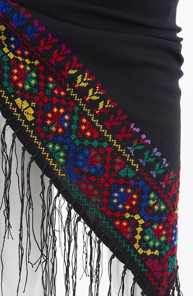 Bedouin Cross Stitch Shawl - Style - 1