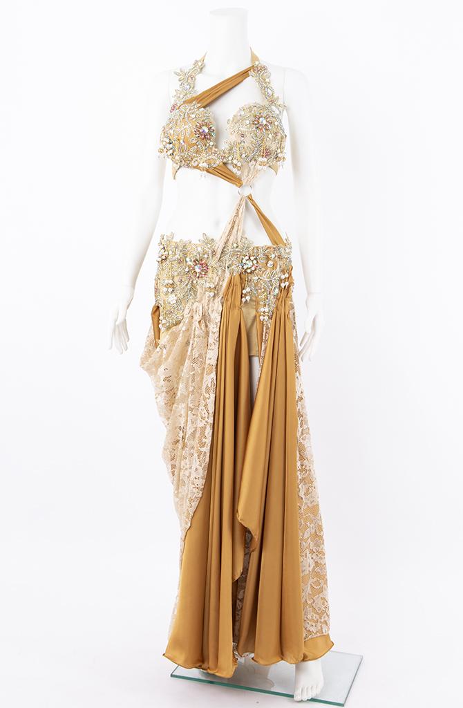 Belly Dance Costume - Caramel Crystal