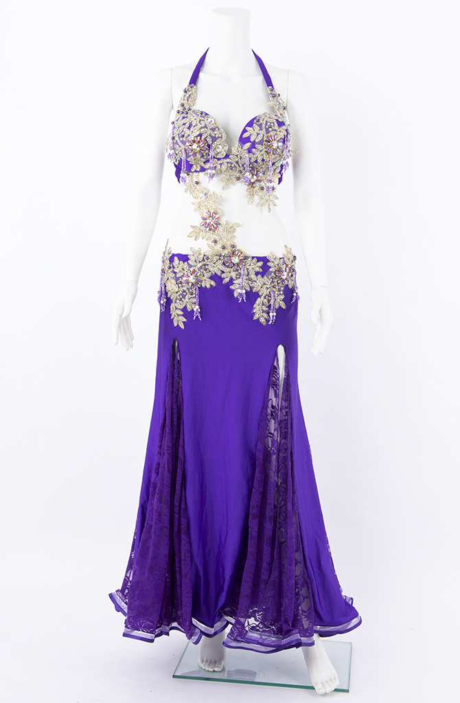 Belly Dance Costume - Purple Lace